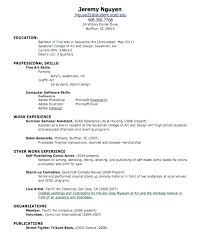 Resume For First Job Examples Sample Of Summer