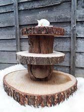 1 23 Tier Cake Stand Display Huge Rustic Wedding Table Decor Natural Wood