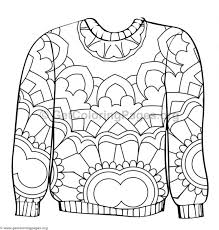 Ugly Sweater Coloring Pages 5