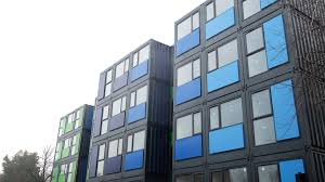 100 Shipping Container Apartments UKs Biggest Shipping Container Village Opens Up For Homeless People