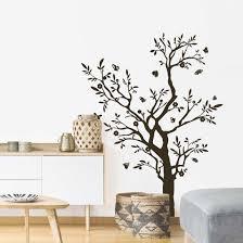 dekoration wandtattoo baum einfarbig wohnzimmer küche flur