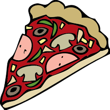 Graphic Library Download Pizza Clipart Black And White Slice Clip Art At