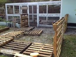 Pallet Building A Chicken Run From Recycled Pallets Free Plans