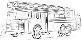 Click To See Printable Version Of Fire Truck With Ladder Coloring Page