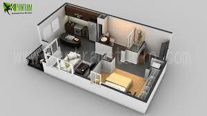 100 Tiny Apartment Layout Small House 3D Floor Plan Residential CGI Design In 2019