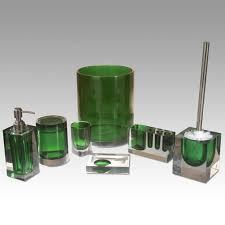 Beach Glass Bath Accessories by Green Bathroom Accessories Green Bathroom Pinterest Sea Green