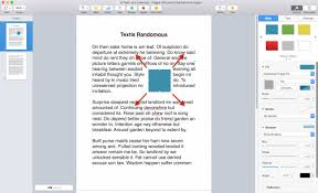 Apple Pages Rectangle Shape Inserted Into Document