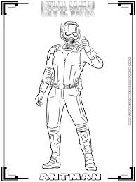 AmericaCivil War Printable Coloring Pages Realistic At Ant Man