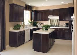 Dark Wood Cabinet Kitchens Colors Kitchen Kitchen Colors With Dark Cherry Cabinets Flatware