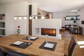 essbereich und kamin haus wohnzimmer wohn esszimmer