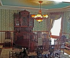 Victorian Dining Room In Our Clients Restoration Home Featuring Antique Furniture