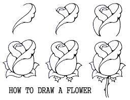 Flower Drawing Easy Step By Step How To Draw A Rosebud