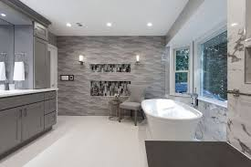 contemporary master bathroom in fairfax station va