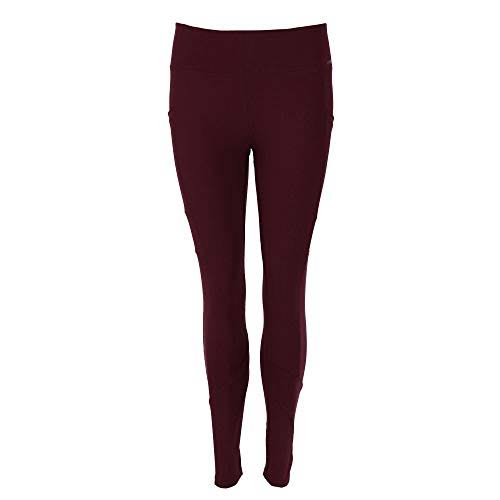Fit Kicks Women's Active Lifestyle Leggings - Burgundy Small (2-4)