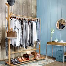 size 60cm ky garderobenständer kleiderstange bambus