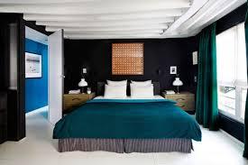 chambre adulte noir design interieur bleu pétrole literie chambre adulte noir blanc