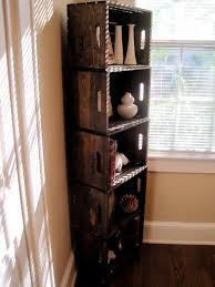 Furniture Exellent Picture For Old Diy Wood Crate With Heap Desaign On Narrow Space Close