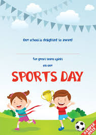 Sports Day Certificates