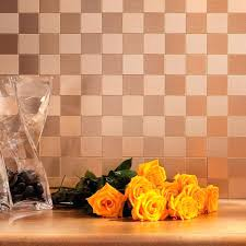 Marble Backsplash Tile Home Depot by Metal Backsplash Tiles Home Depot Instant Mosaic In X In Metal