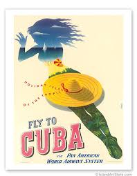 Pan Am Fly To Cuba Holiday Isles Of The Tropic Vintage Poster