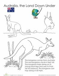 Animals Of Australia The Land Down Under A Set 12 Free Printable Coloring