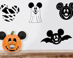 Mickey Mouse Vampire Pumpkin Stencil by Mickey Bat Decal Etsy