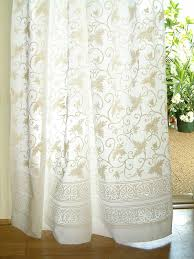 Sheer Cotton Voile Curtains by Bohemian Curtains Moroccan Curtains India Curtains Exotic