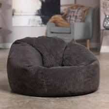 Jumbo Cord Fabric Soft Bean Bag Chair Seat Lounger Living Room Bedroom Beanbag