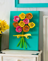 Egg Carton Art Via Mod Podge Rocks How Lovely Is This Pretty Piece Of Flower It Makes A Nice Gift Kids Can Make Or Cute Home Decoration To Bring