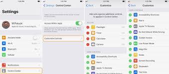 iOS 11 How to customize Control Center