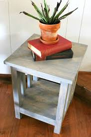 How To Build Wooden End Table by How To Build A Simple Diy Mission Style End Table