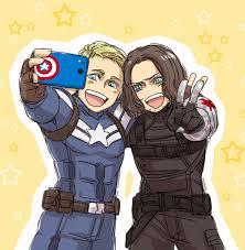 Fanart Captain America Steve Rogers Bucky Barnes Fan Art