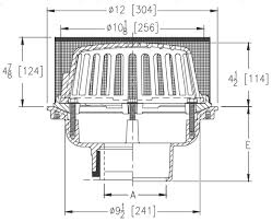 Wade Floor Drain Pdf by Zurn Z121 Ss Roof Drain Stainless Mesh Screen Over Dome