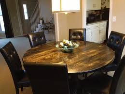 Creative Of Rustic Round Kitchen Table Up To Date Tables And Sets