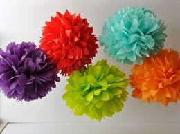 Tissue Paper Pom Poms Polka Dot Celebrations