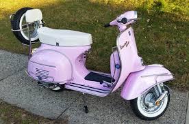 Vintage Vespa 150 Pink Retro Sprint