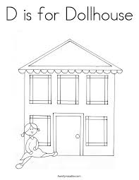 20 Dollhouse Furniture Coloring Pages Barbie Doll House Loving Family