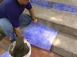 Antique Terra Cotta Tile Featured On The Diy Network Show I by How To Give A Tile Facelift To An Ordinary Concrete Porch How