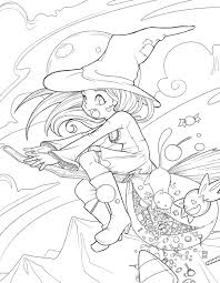 Scary Halloween Coloring Sheets Printable by Search Results Anime Printable Coloring Pages Witch