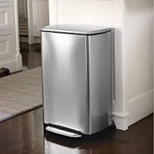 poubelle inox cuisine poubelle cuisine acier brossé 38 l rangement de la cuisine