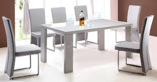 Creative Of Dining Table With Grey Chairs Innovation Idea Gray And White Room Blue Glass Top Contemporary Ideas