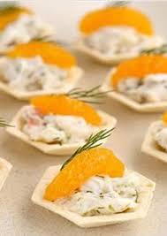 crab canapes crab dill and mandarin canapé cups recipe binder