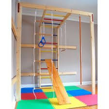 A new take on a playroom for the kids an Indoor swing set Cost