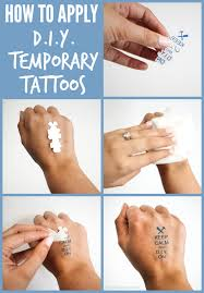 Not Only Are DIY Temporary Tattoos Easy To But Theyre A Cinch