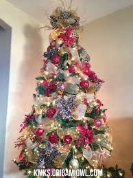Decorating Christmas Trees With Mesh Ribbons Inspirational Red Gold Burlap Deco Tree Leopard Print Accent Love It