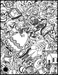 Free Coloring Page Doodle Art Doodling 4