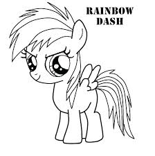 My Little Pony Fluttershy Coloring Pages Page Rainbow Dash Via Sheets