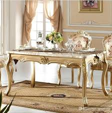 Italian Dining Room Sets Antique Style Table Solid Wood Luxury Marble Set