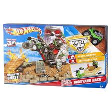 100 Hot Wheels Monster Truck Track Jam Grave Digger Boneyard Bash Toy Set