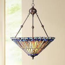 Peacock Glass 3 Light 20